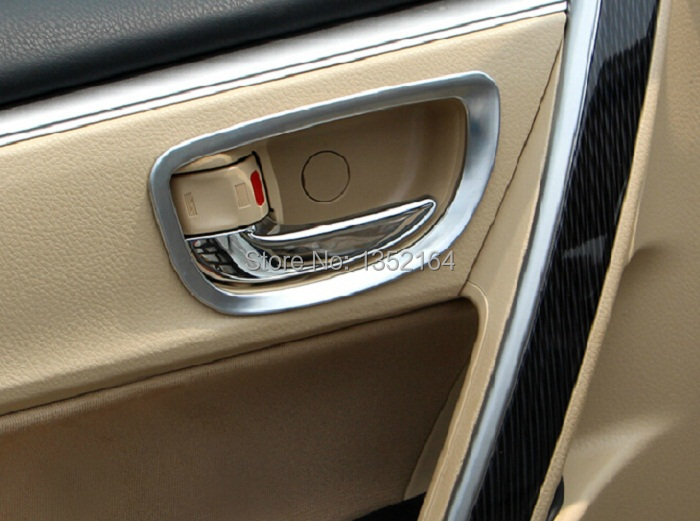 auto interior accessories car inner door handle trim sticker for toyota corolla 2014 2015 abs. Black Bedroom Furniture Sets. Home Design Ideas