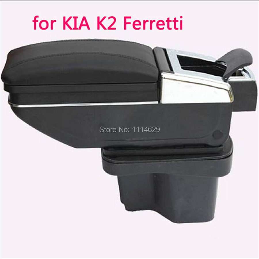 Free perforating Multi-function With an Ashtray and Cup Holder Armrest Box for KIA K2 Ferretti Yueda Kia Rio New and old horse(China (Mainland))