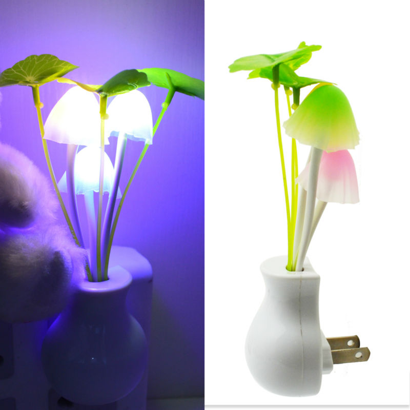Green Plant Led Night Light Touch Switch Night Light For Kids Eyes-Protection RGB Color Changing Mushroom Lights For Dark Night(China (Mainland))