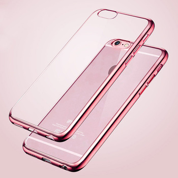 Colorful Ultra Thin Slim Rose Gold Plating Clear Case For iPhone 6 6S Plus 4.7 5.5 inch 5 5S Transparent tpu Soft Phone Covers