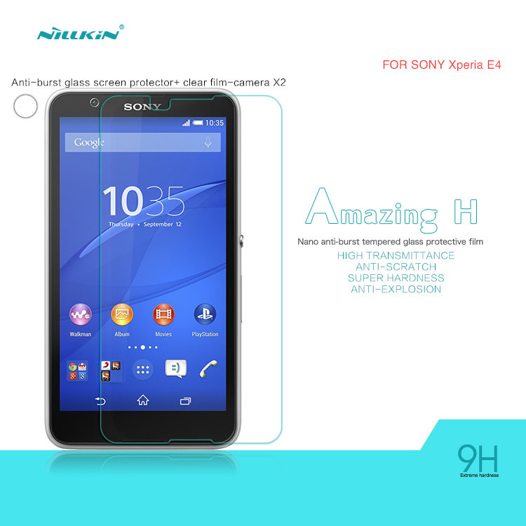 NILLKIN H Amazing Nanometer Anti-Explosion Tempered Glass Screen Protector Sony Xperia E4 stock - 2015 Special Offer store