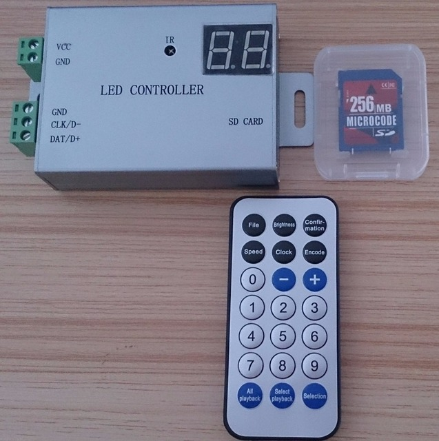 IR LED SD card pixel controller,max 4096pixels controlled