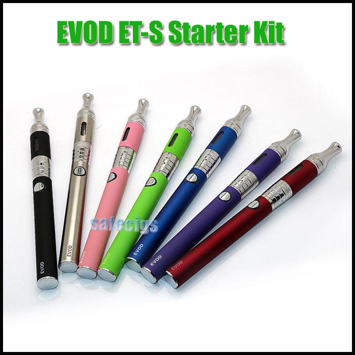 Электронная сигарета Kit EVOD ET-S BDC форсунка clearomizer 900 мАч 1100 мАч аккумулятор стартовый комплект испаритель подходит для Kanger форсунка