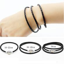 Buy 3pcs Send 1 Silver Plated Leather Bracelet Fit Women Pandora Bracelets & Bangles pulseiras European Bead Charm Jewelry gift(China (Mainland))