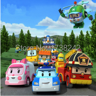 2015  High quality 4pcs/Set Korea robot   classic plastic Transformation Toys Toys Best Gifs For Kids free shipping(China (Mainland))