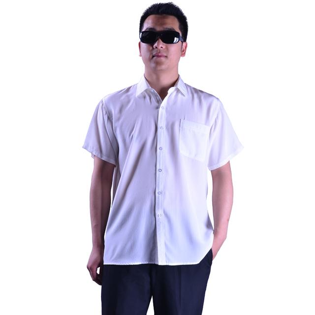 Вилочная часть шелк сплошной белый рубашка, Шелк Mulberry верхний сплошной цвет лаконичный ...
