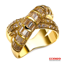 Buy Romantic Women Wedding Cocktail Ring Rhodium Gold-Color Simulated Cubic Zirconia Bridal Wedding Ring Lead Free Gifts for $15.22 in AliExpress store