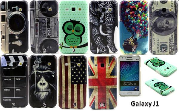 Case For Samsung Galaxy J1 SM-J100F Covers Cute Owl Orangutan UK US Flag Retro Radio Soft TPU Back Cover Phone Case FreeShipping(China (Mainland))