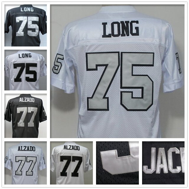 Great quality #75 Cheap Kyle Long jersey Authentic throwback football jersey #77 Stitched Lyle Alzado jersey of Oakland(China (Mainland))