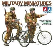 Tamiya ( 35333 ) 1:35 británico ejército aerotransportado soldados y modelo de bicicleta