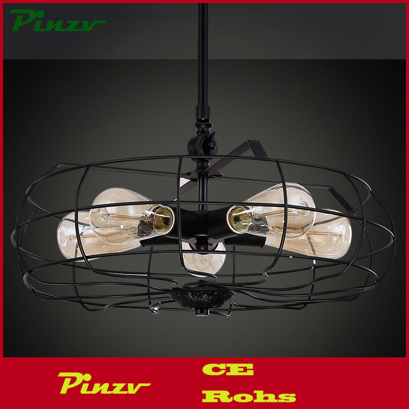 Vintage Style Industrial Electric Fan Lamp Light Pendants Bar Steampunk Lamps 5 lights(China (Mainland))