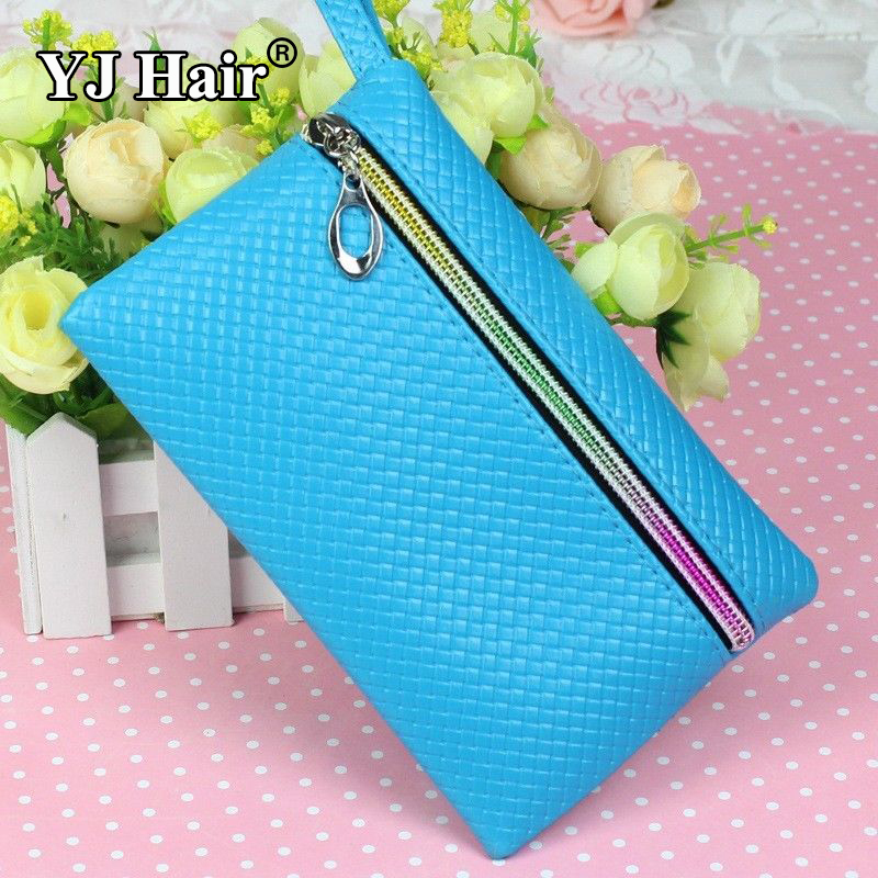 New Fashion Cheapest Women's PU Purse Clutch Wristlet Wallet Bag Coin Bag Phone Key Case Makeup Bag(China (Mainland))