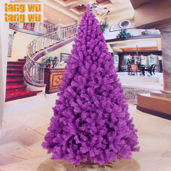 free shipping 240cm encryption purple christmas tree 2 4 meters of packages trees decorated. Black Bedroom Furniture Sets. Home Design Ideas