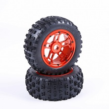 Buy 1/5 RC baja parts Rovan LT truck parts Strong Knobby Tyres CNC ALLOY wheel hubs set 97045 for $135.00 in AliExpress store