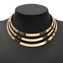 2015 Charm Choker Necklaces Women Gorgeous Metal Multi Layer Statement Bib Collar Necklace Fashion Jewelry Accessories Hot Sale(China (Mainland))