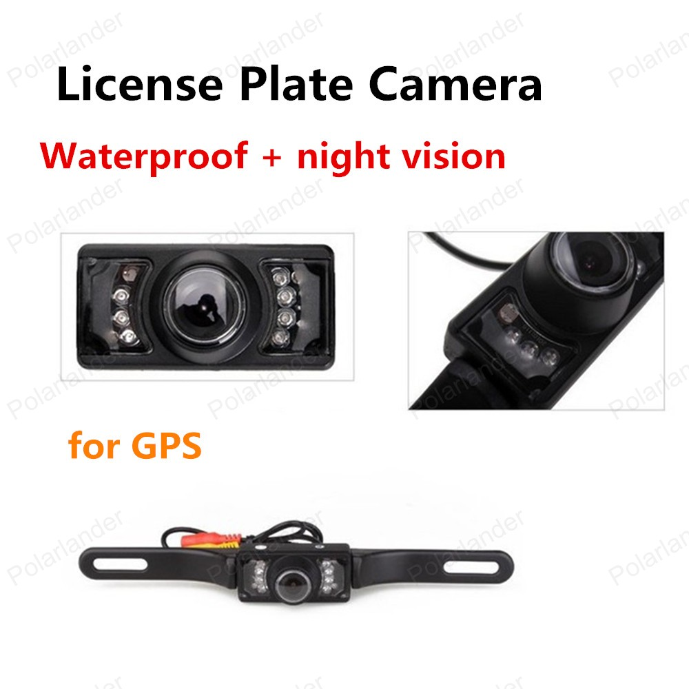 wholesale Waterproof License Plate Frame night vision Car Rear View Reversing Camera 2.4G Wireless for GPS(China (Mainland))