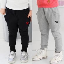 2016 spring/autumn baby boys girls kids pants children trousers cotton harem casual pants for girls kids clothing sports 2-10Y(China (Mainland))