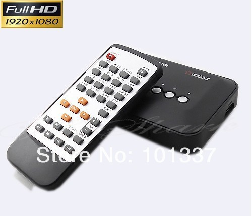 3D Full HD Media player 1080P Mini Multi-Media Player w/Remote Control HDMI W/USB/SD Video Player(+32GB SDHC Card) Free shipping(Hong Kong)