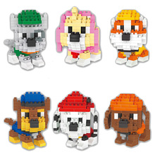 Cute Dogs Action Figures Animals Model Mini DIY Assembled Toys Cartoon Anime Characters Best Gift For Children Education 2 in 1