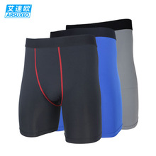 ARSUXEO Men Compression Tight Base Layer Underwear Cycling Shorts Running Shorts Fitness Football Soccer Basketball Shorts Y0435(China (Mainland))