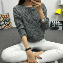 women fashion 2016 spring sweaters basic casual knitting winter Pullover KB911(China (Mainland))
