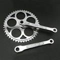 hot sale road Bicycle Retro Crankset Chainwheel Single 46T Speed 186mm aluminum Fixed Gear Bike Crank