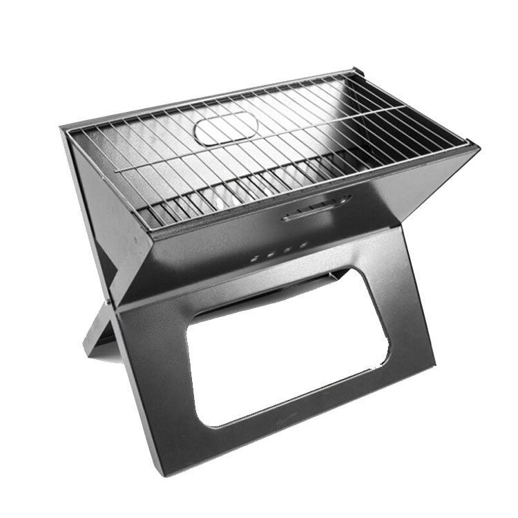 Free Shipping-6Pcs/Lot Portable Folding Charcoal BBQ Grill Outdoor Picnic Camping bbq Grill Hot Sale(China (Mainland))