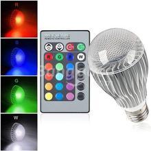 RGB LED Bulb 2015 New arrival LED RGB bulb E27 9W 15W AC 85-265V rgb led Lamp with Remote Control multiple colour led rgb lamp(China (Mainland))