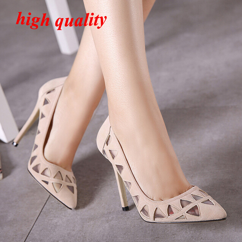 sexy heels Summer shoes Sandals women dress shoes ladies Heels pointed toe high heels shoes black nude Pumps wedding shoes Y822