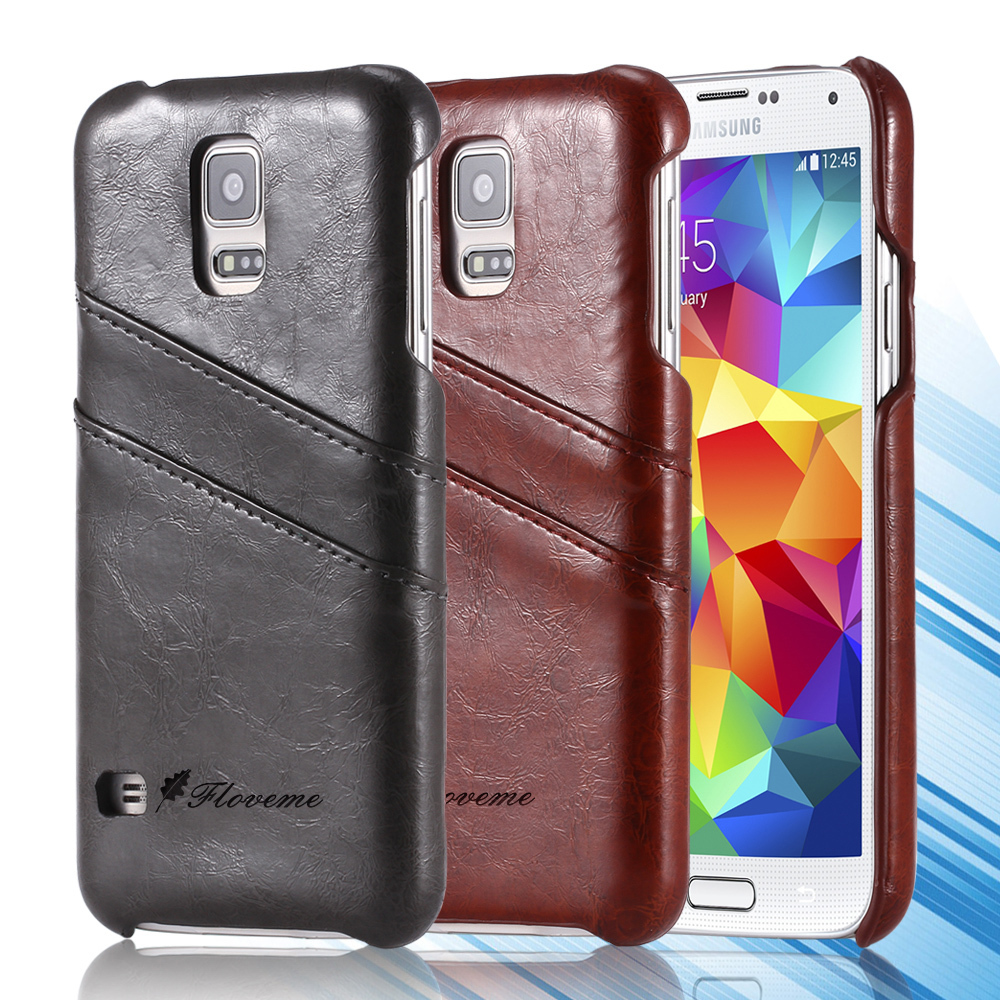 Top Quality Luxury Grease Glazed Leather Phone Case For Samsung Galaxy Note 4 N9100 IV Card Slots Wallet Back Cover Bag Note4(China (Mainland))