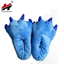 Buy 2017 Winter Warm Soft Indoor Floor Slippers Women Men Children Shoes Paw Funny Animal Christmas Monster Dinosaur Claw Plush Home for $7.93 in AliExpress store