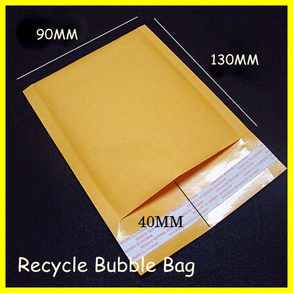 Wholesale 50pcs/bag Manufacturer Kraft Bubble Bags Mailers Padded Envelopes Paper Mailing Bags 90X130mm(China (Mainland))