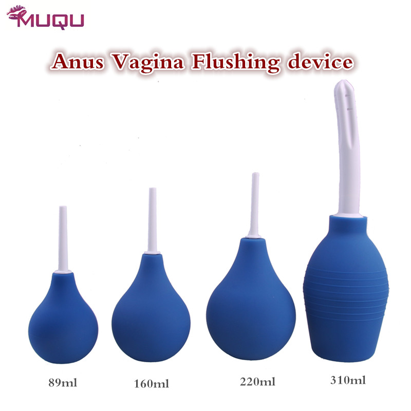 Medical silicone anal cleaner butt vagina pussy Cleaning device four size Enema Syringe device adult bdsm gay anal sex toys