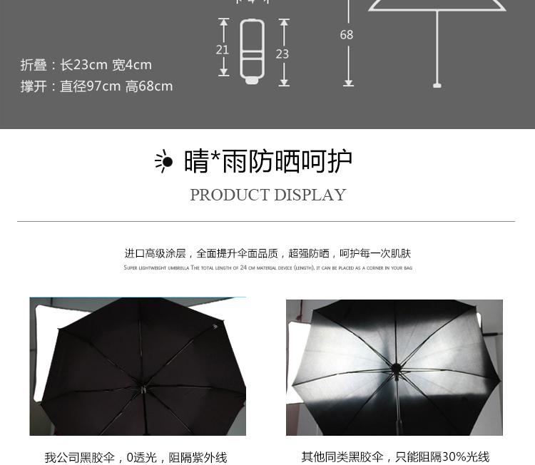 Non-Automatic Folding Black Umbrella Rain Women Leopard black ...