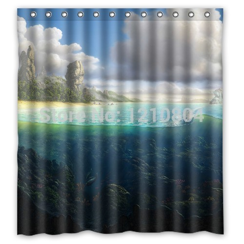 Pookoo Between Land And Water Personalized Custom Shower Curtain Bath Curtain More Sizes Good