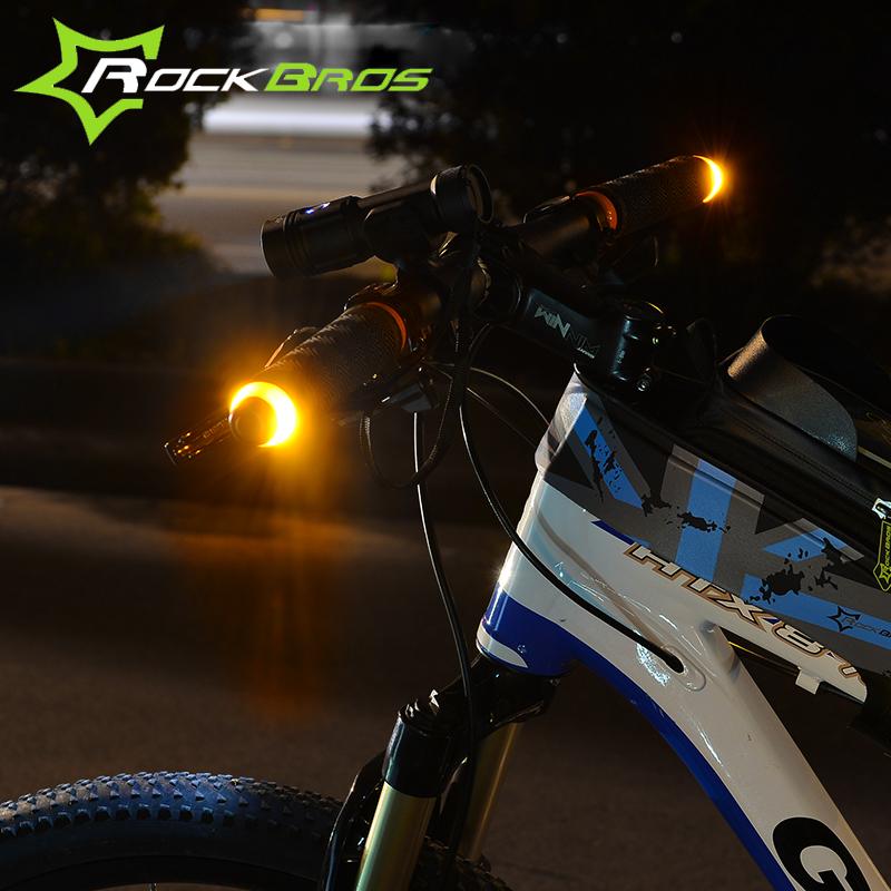 Rockbros Bicycle Light Waterproof Handlebar Turn Signal Bike Light LED Safety Warning Light 1 Pair(China (Mainland))
