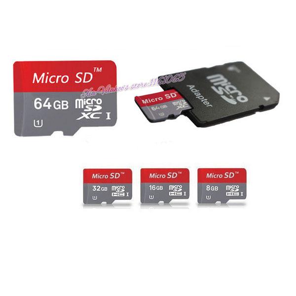 Free HONGKONG POST 10PCS Wholesale Memory cards Micro SD card class 10 64G 32G 16G 8GB Microsd TF card Pen drive Flash + Adapter(China (Mainland))