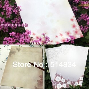 50pcs/lot 2014 New Hot Sale Vintage Romantic Letter Pad,Fashion Writting Paper,Lovely Stationery(China (Mainland))