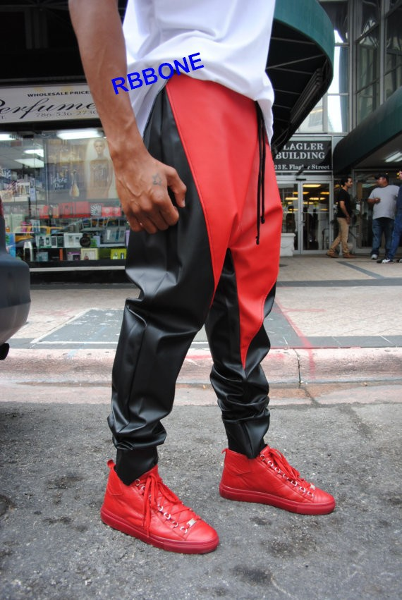 Kanye West Leather Pants 2015