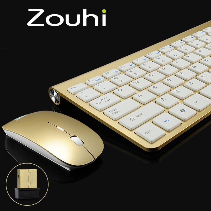 Waterproof 2.4G Wireless Mouse and Keyboard Set For Laptop PC Surface Pro,Slim Mute Mini Multimedia Keyboard Without Battery(China (Mainland))
