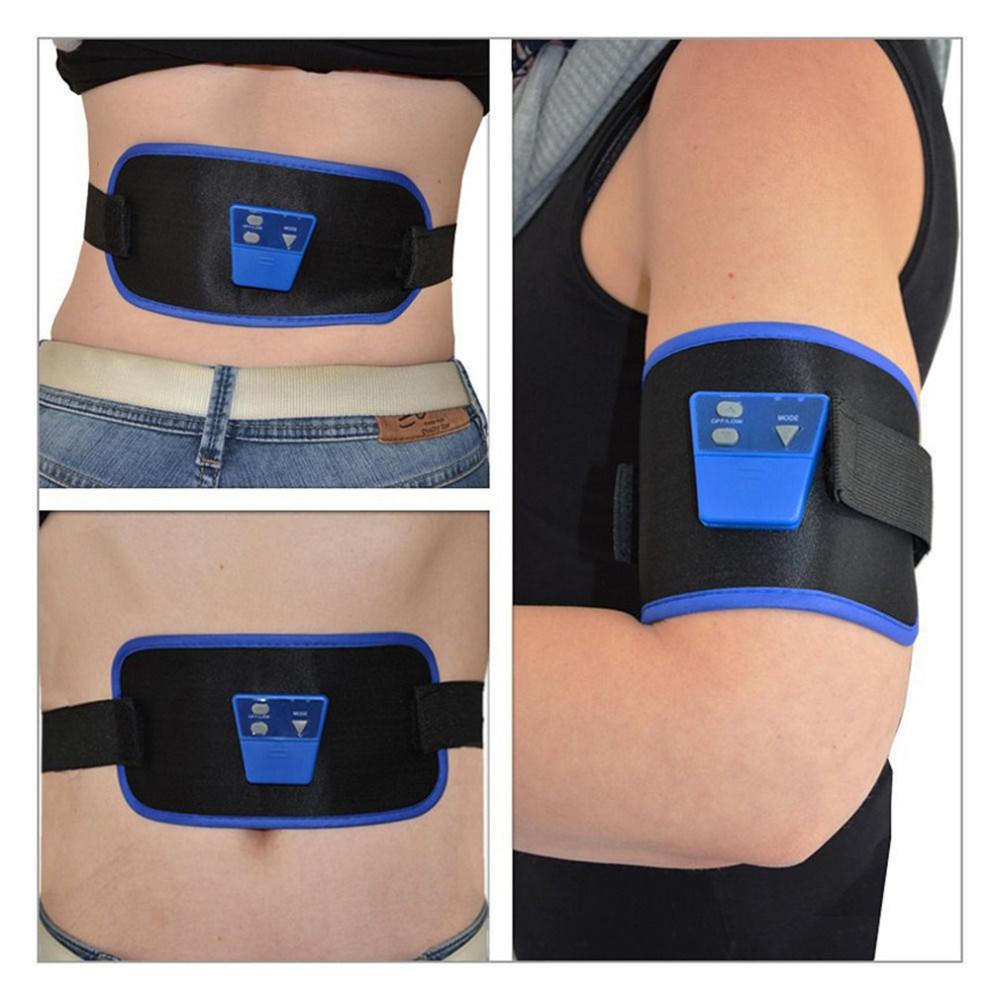 Corpo ABGymnic Muscle AB Gymnic Eletrônico Cintura Muscular Do Braço perna Massagem Abdominal Exercício Toning Belt Slim Fit Venda Quente