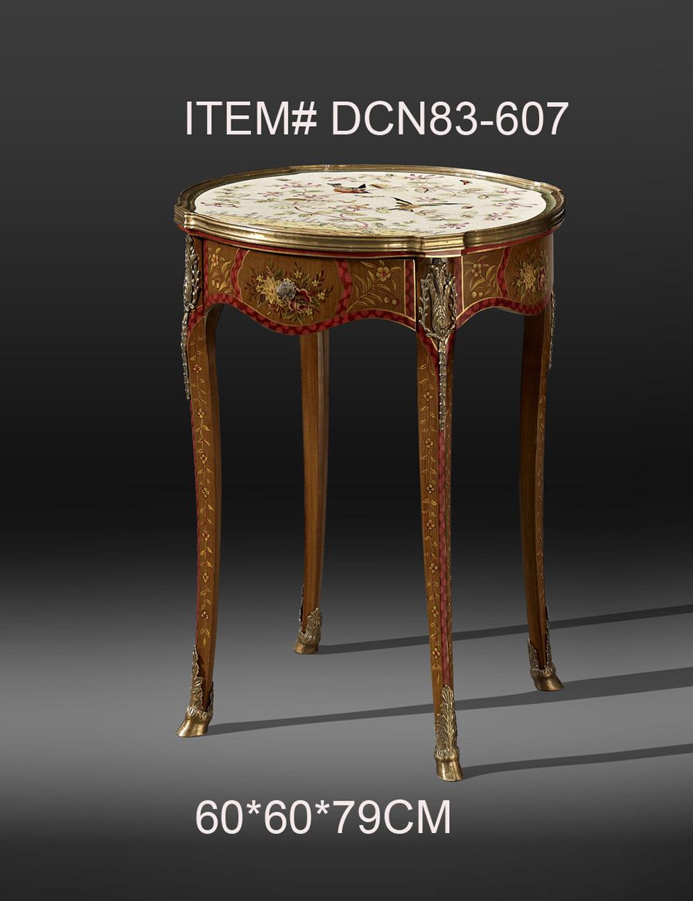 European Style Antique Porcelain Mosaic Brass Decorative Painted Round Console Table Luxury Ceramic Home Decor<br><br>Aliexpress