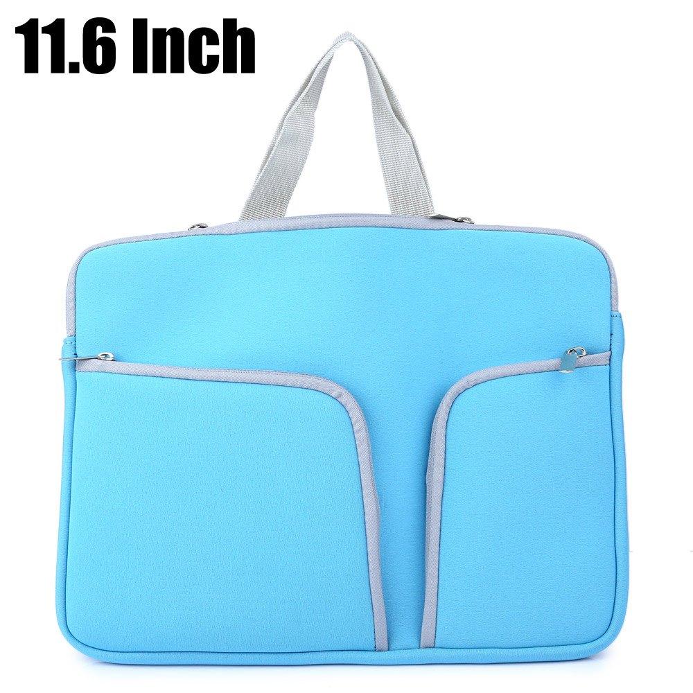 11.6 Inch Good Hand Feel Neoprene Soft Notebook Bag Double Pocket Zipper Laptop Sleeve Case Shock Resistance for MacBook Pro(China (Mainland))
