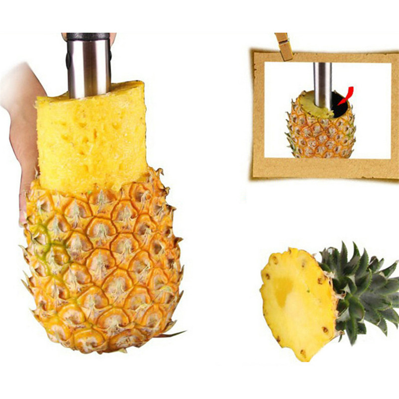Cooking Tools Kitchen Accessories Pineapple Slicers Transport Stainless Steel Fruit Vegetable Cutter - cn1510653759 store