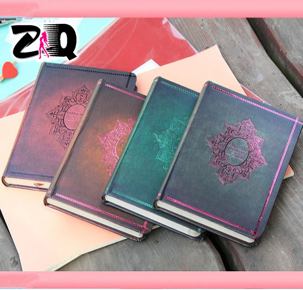 New Creative Trends Vintage Hard Copybook Notebooks Retro Diary Day Planner Jotter Journal Hardcover Notebook 255(China (Mainland))