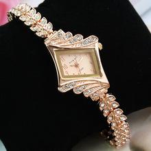 Rose Gold Fashion Premium Women's Business Diamond Bracelet Watch Women Luxury Casual Steel Quartz Watches Dress Wristwatchws
