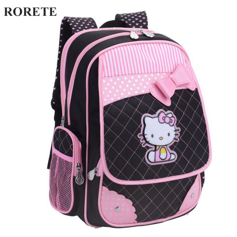 Cartoon Hello Kitty Backpacks for Girls Kids Satchel Children School Bags School Portfolio Orthopedic Backpack Mochila Escolar(China (Mainland))