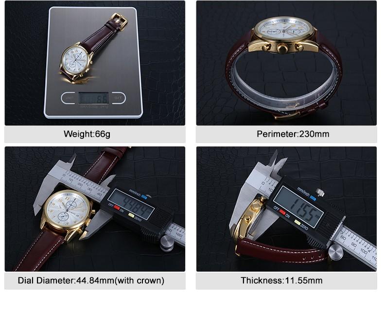 Швейцария Ochstin Часы Хронограф Мужские Часы Спортивные Кварцевые Часы Люксовый Бренд Часы Мужчины 2016 Черный Кожаный Ремешок
