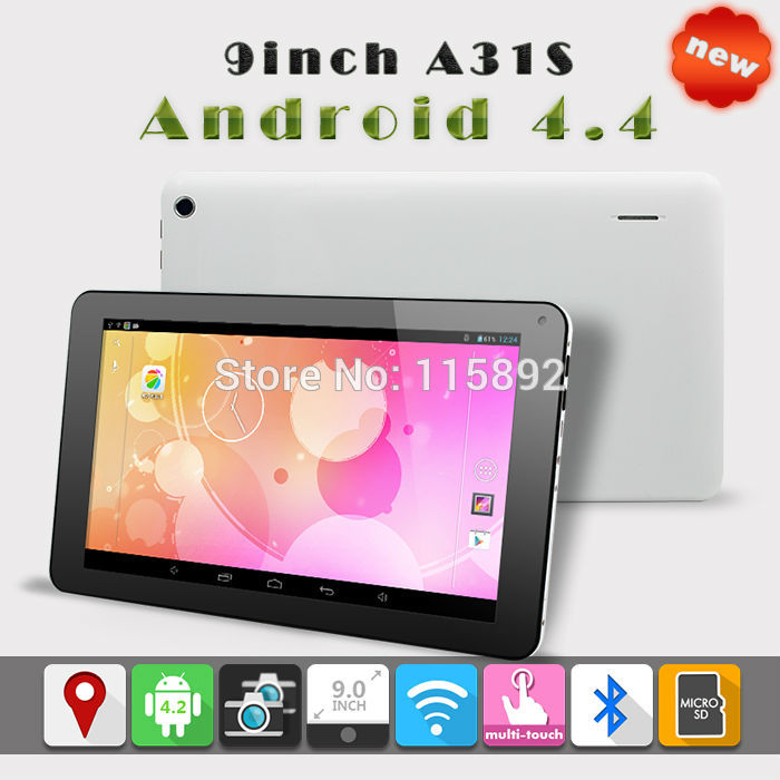 Hot sale 9inch Allwinner a31s quad Core Android 4.4 1GB 8GB 800x480 screen HDMI WIFI 9 inch Tablet Pc Dual Camera tablets(China (Mainland))