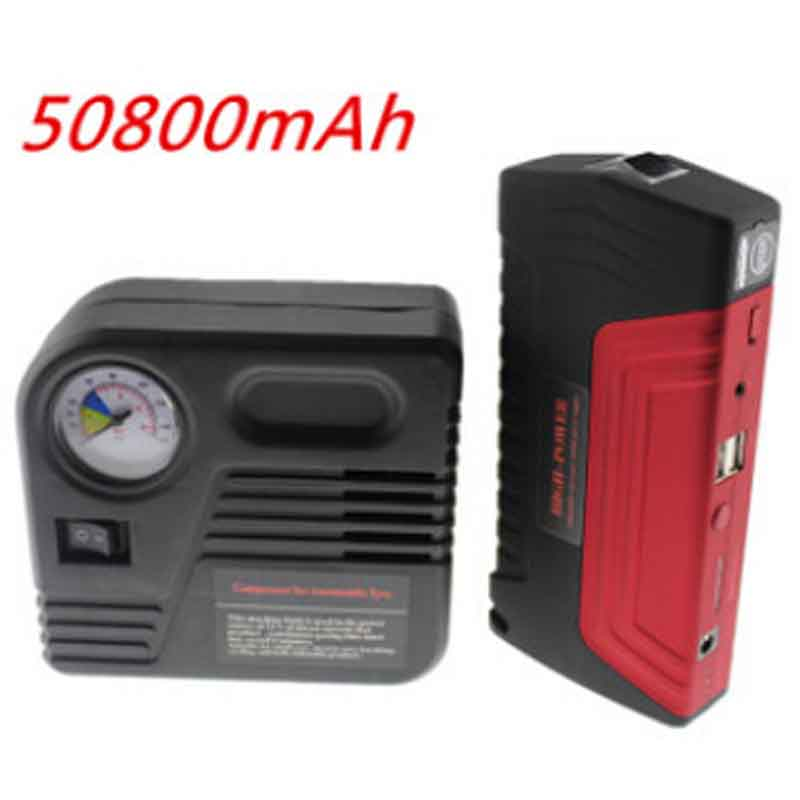 50800 MAH Car Jump Starter Car Battery Car Tire Tyre Inflator Pump Car Safety Hammer JumpStarter Set Mobile Auto Emergency Power(China (Mainland))